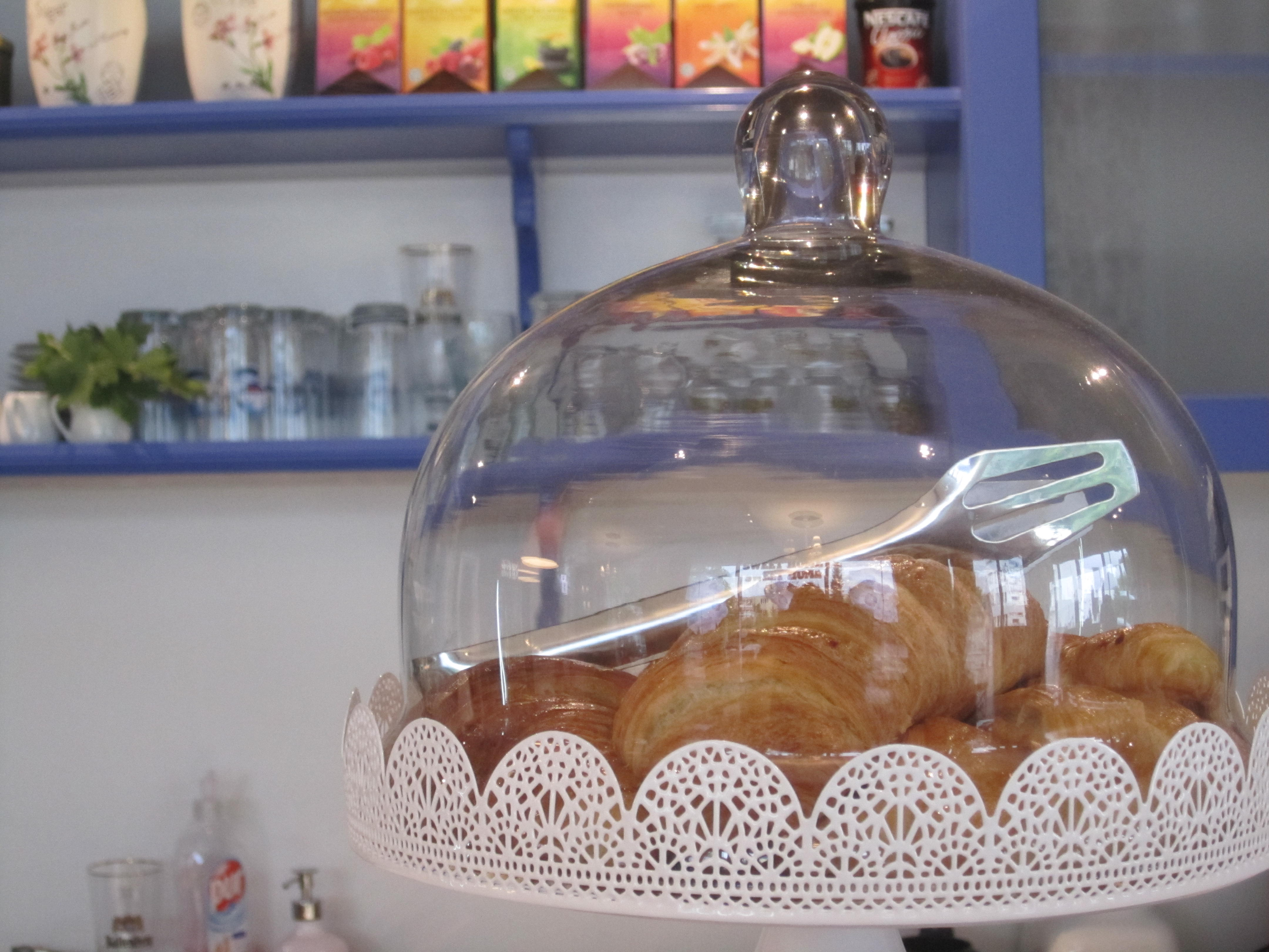Sweet Home Café & Patisserie is a wonderful place for enjoying a cup of coffee or cappuccino while trying a freshly baked croissant with a glass of fresh or some of the cakes on the window display.